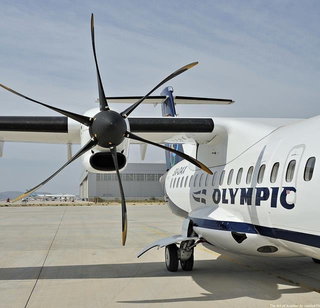 The aircraft that flies with Olympic (and Aegean) from Athens to Mykonos